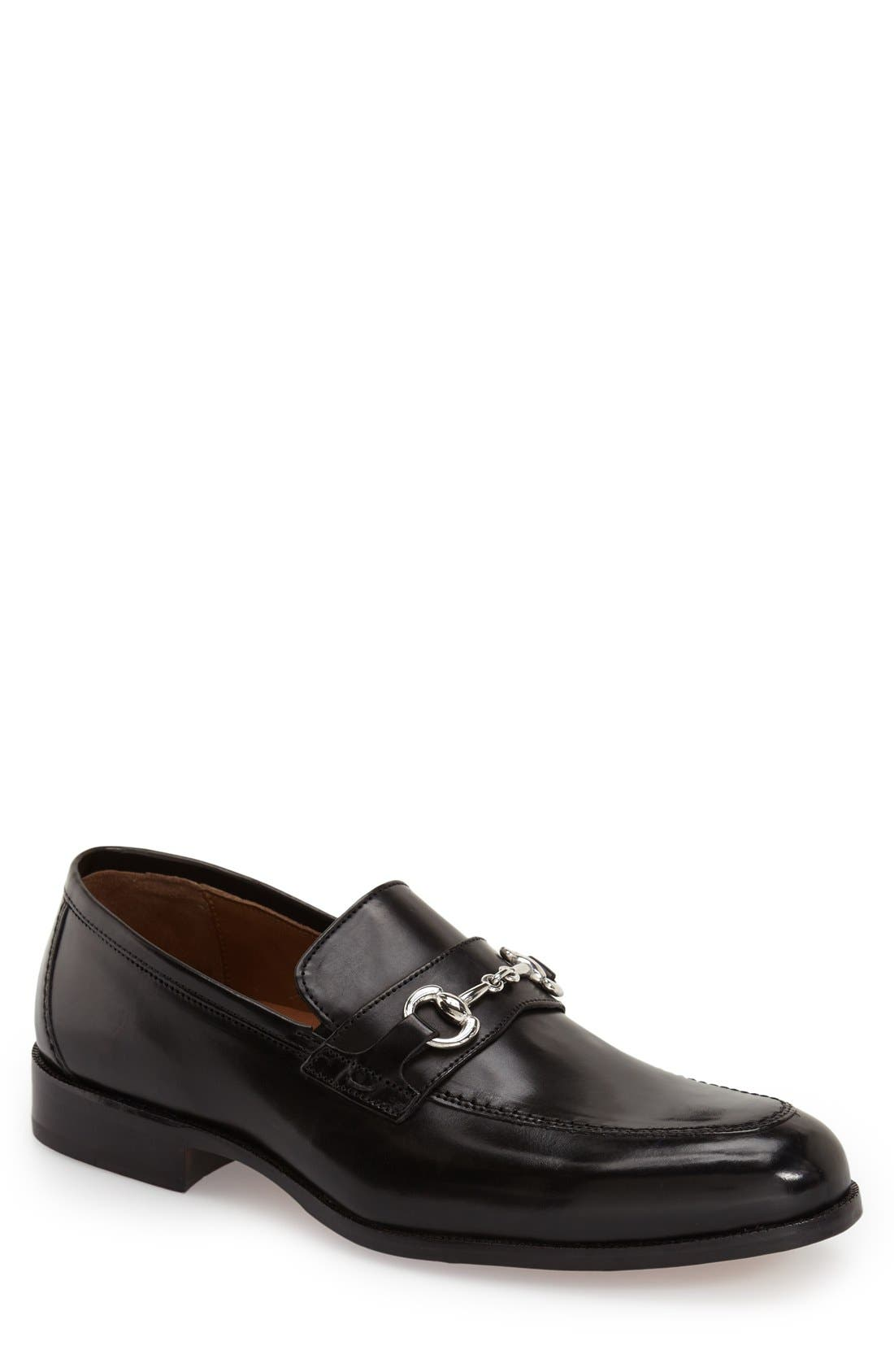 'Stratton' Bit Loafer,                             Main thumbnail 1, color,                             Black
