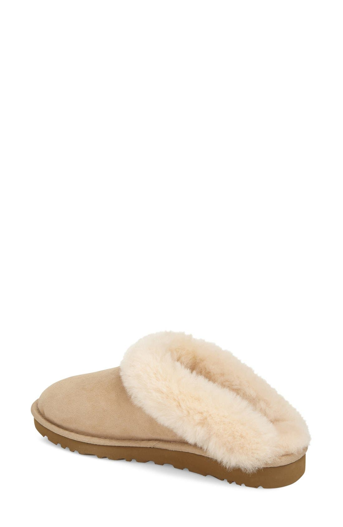 Alternate Image 2  - UGG® 'Cluggette' Genuine Shearling Indoor/Outdoor Slipper (Women)