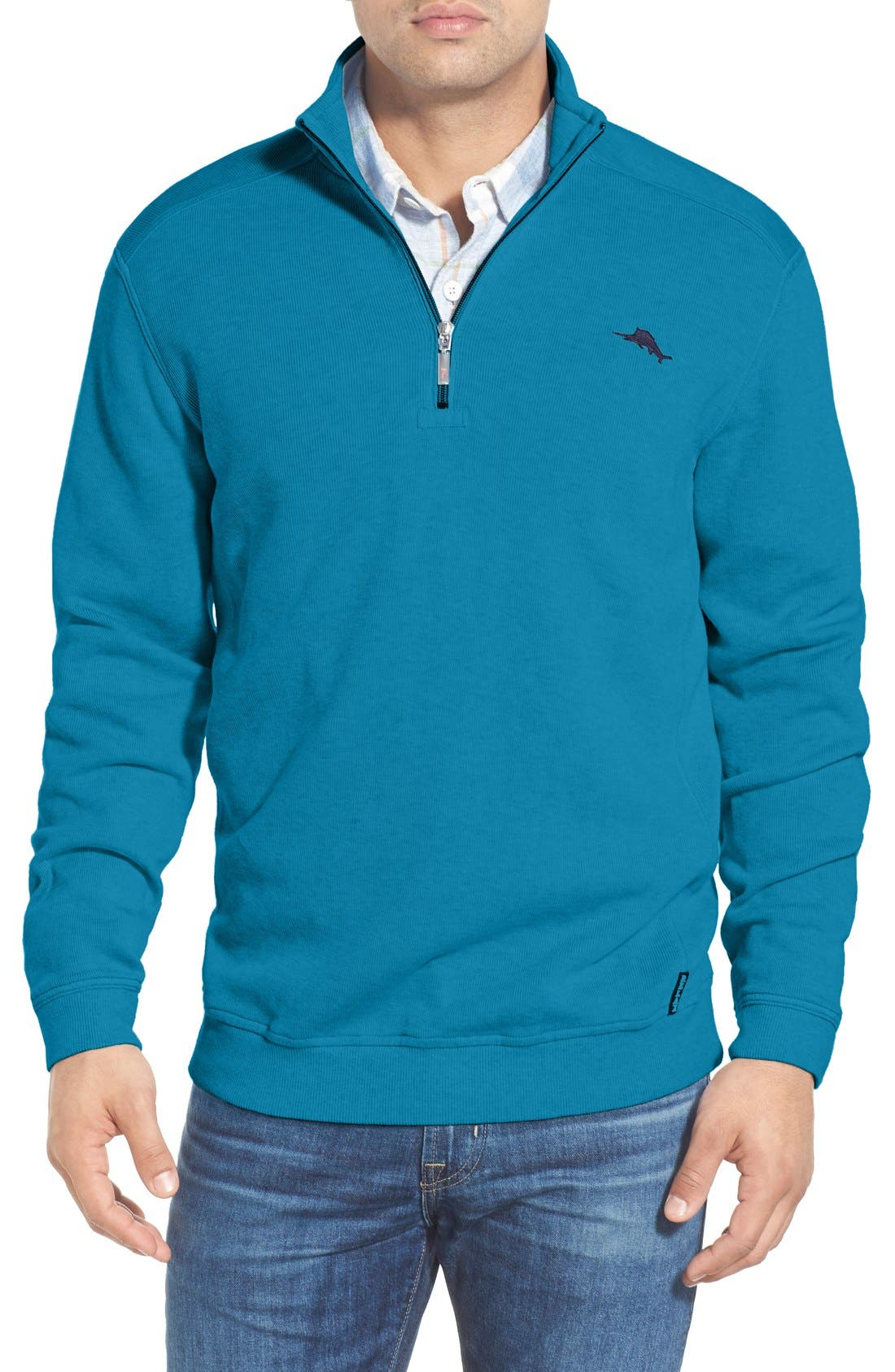 Main Image - Tommy Bahama 'Antigua' Half Zip Pullover (Big & Tall)