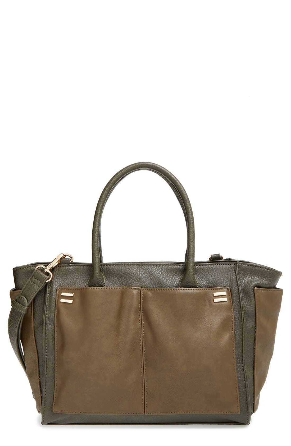 Alternate Image 1 Selected - Sole Society 'Medium Rebekah' Faux Leather Tote
