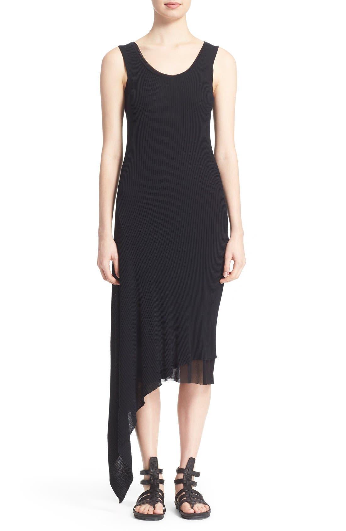 Alternate Image 1 Selected - Fuzzi Asymmetrical Rib Knit Tank Dress