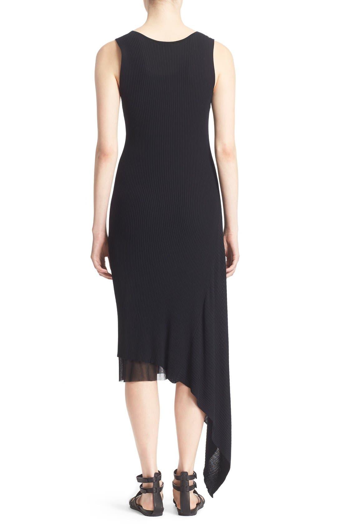 Alternate Image 2  - Fuzzi Asymmetrical Rib Knit Tank Dress