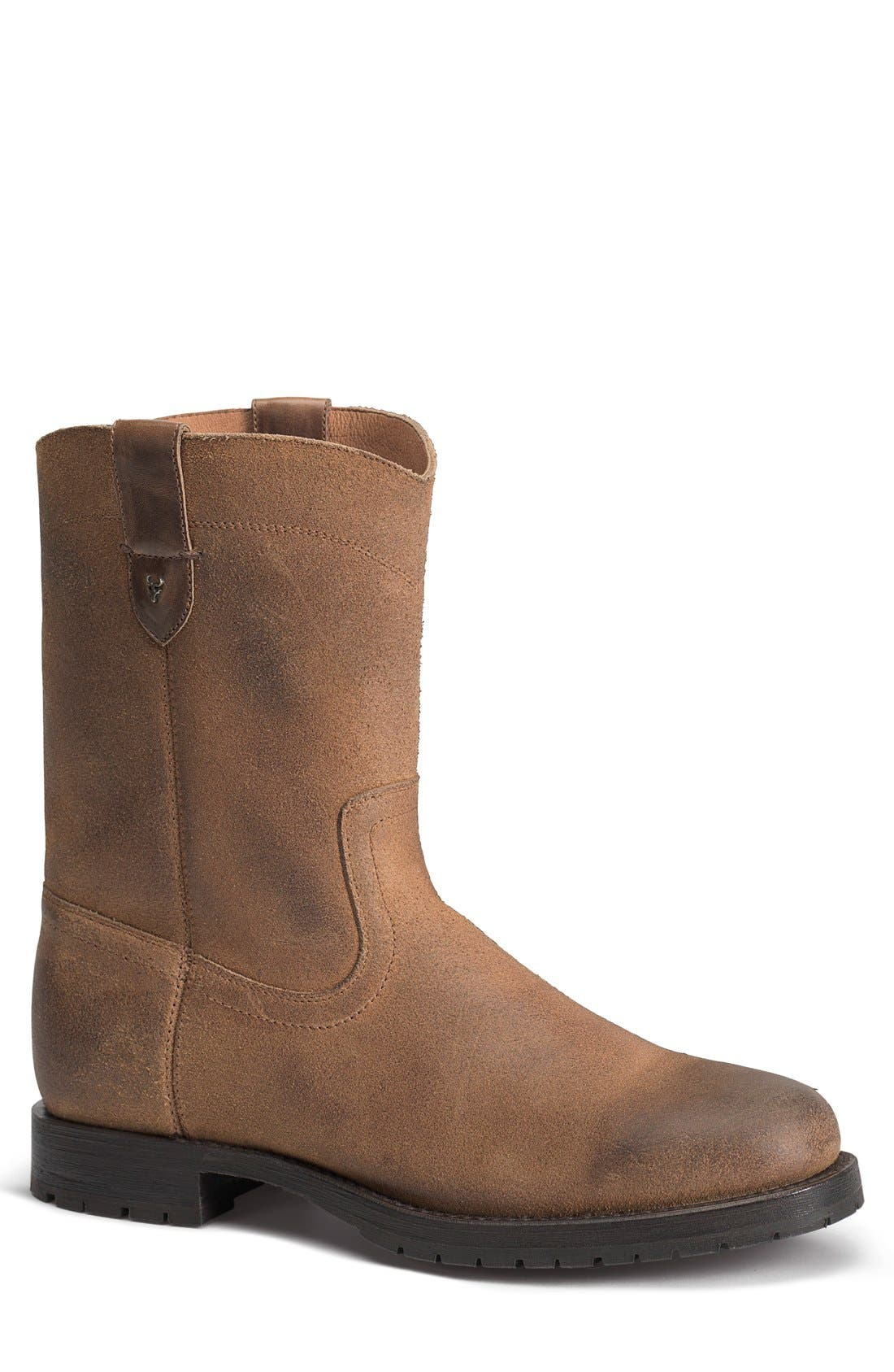'Austin' Boot,                             Main thumbnail 1, color,                             Whiskey Leather