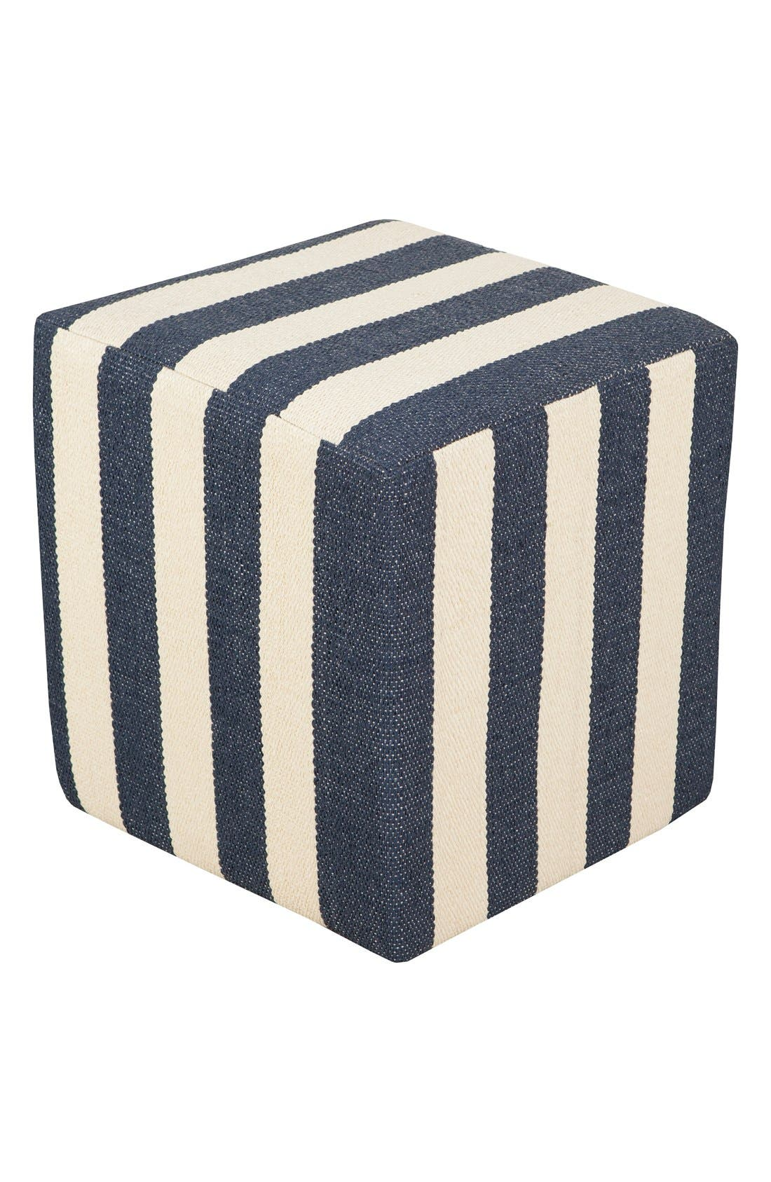 'Picnic' Pouf,                             Main thumbnail 1, color,                             Navy/ Ivory