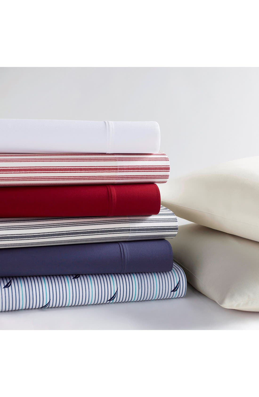 'Audley' Cotton Sheet Set,                             Alternate thumbnail 2, color,                             Blue