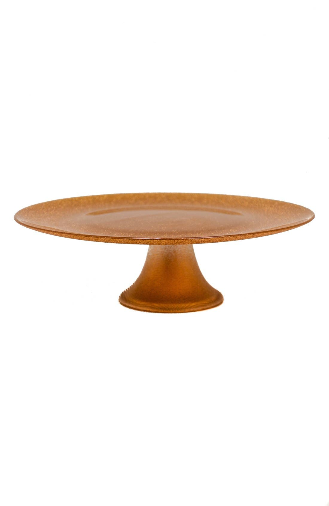 Footed Cake Stand,                         Main,                         color, Copper