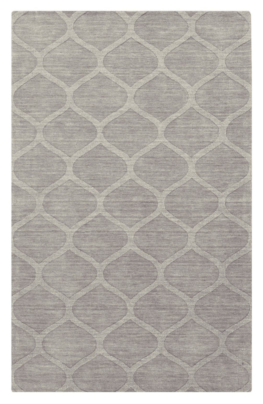 'Mystique' Hand Loomed Wool Rug,                             Main thumbnail 1, color,                             Grey