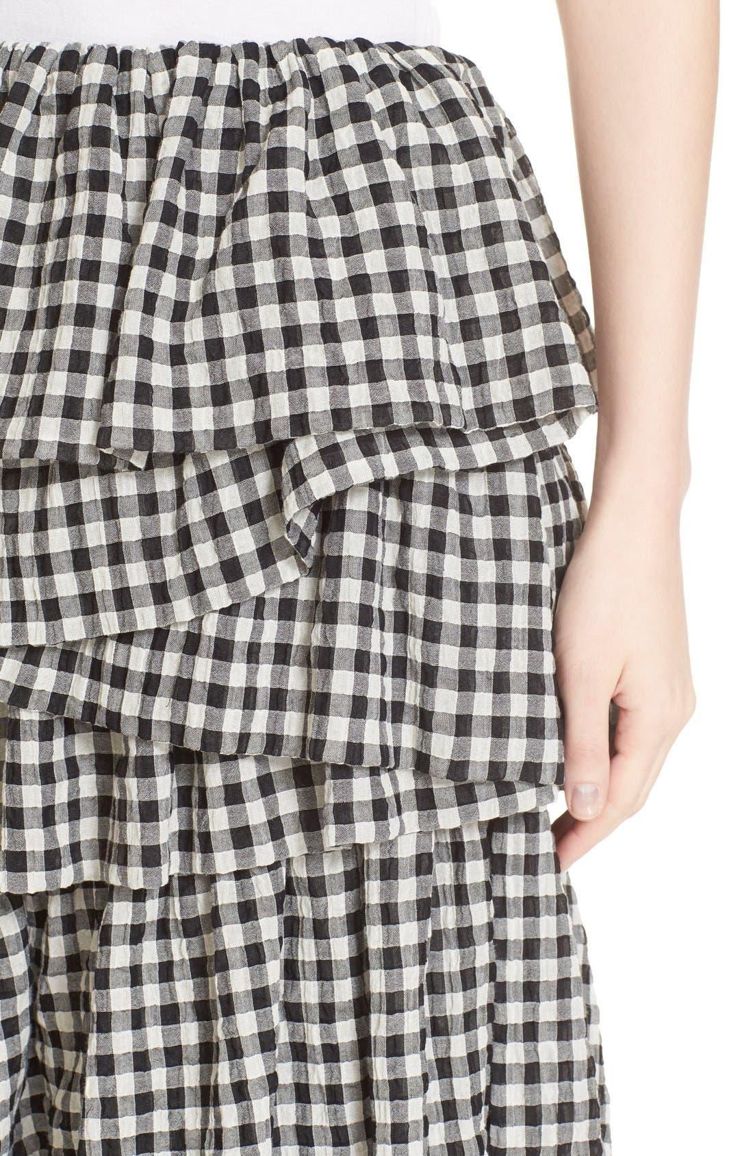 Alternate Image 6  - Isa Arfen 'Full On' Tiered Ruffle Skirt