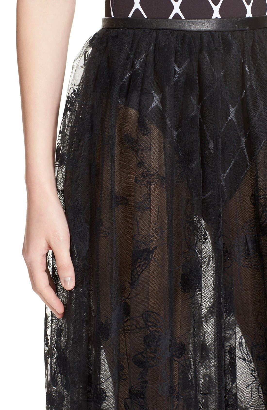 Alternate Image 6  - Ashley Williams 'Flock Fly' Sheer Tulle Skirt