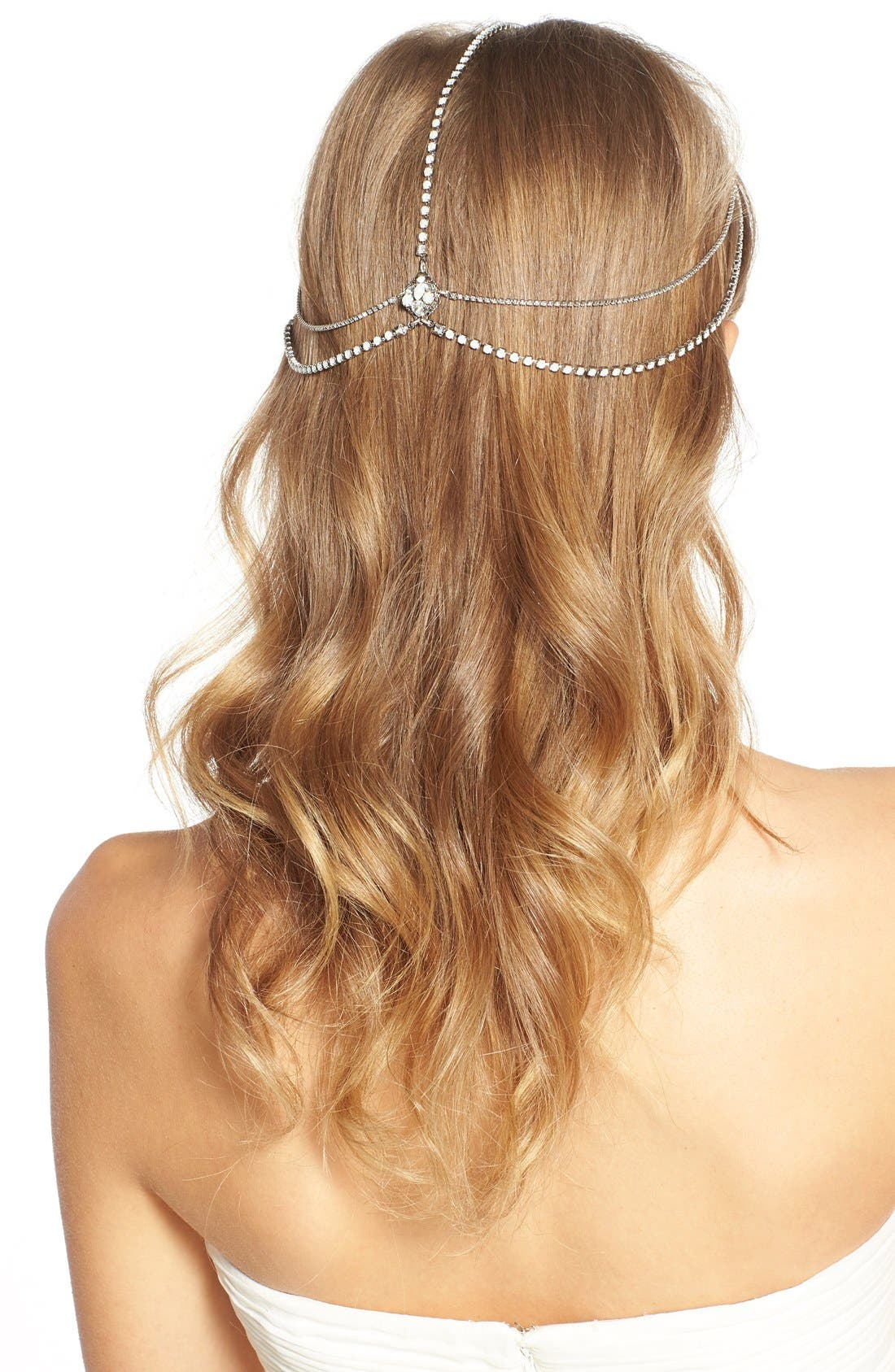 'Lindsay' Embellished Hair Chain,                             Alternate thumbnail 4, color,                             Opal