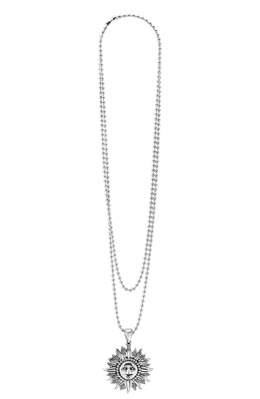 'Rare Celestial' Multistrand Pendant Necklace,                             Alternate thumbnail 3, color,                             Silver/ Sun