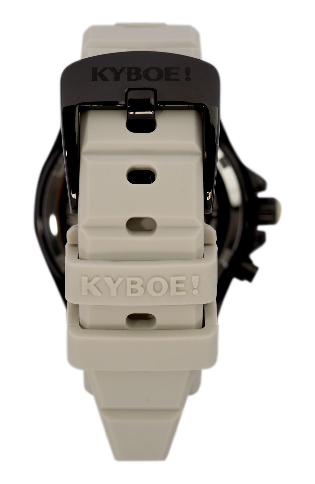 Alternate Image 2  - KYBOE! Silicone Strap Watch, 40mm
