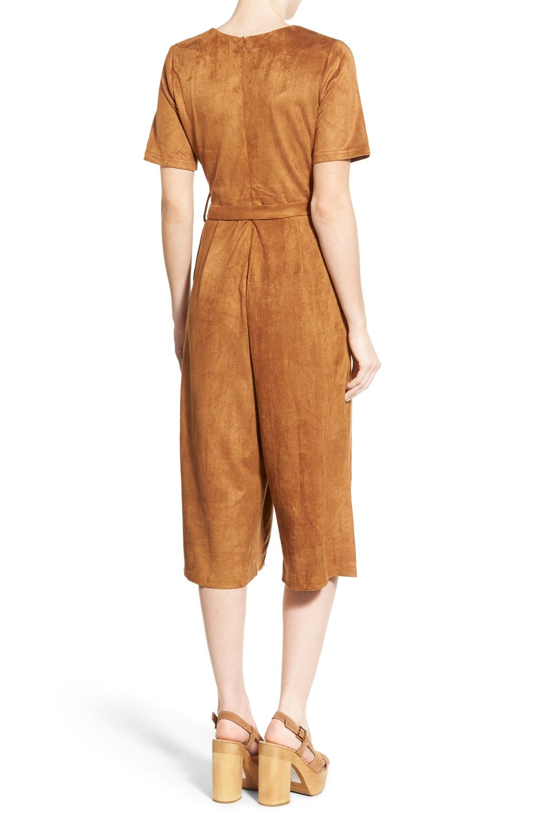 Alternate Image 2  - Missguided Faux Suede Culotte Jumpsuit