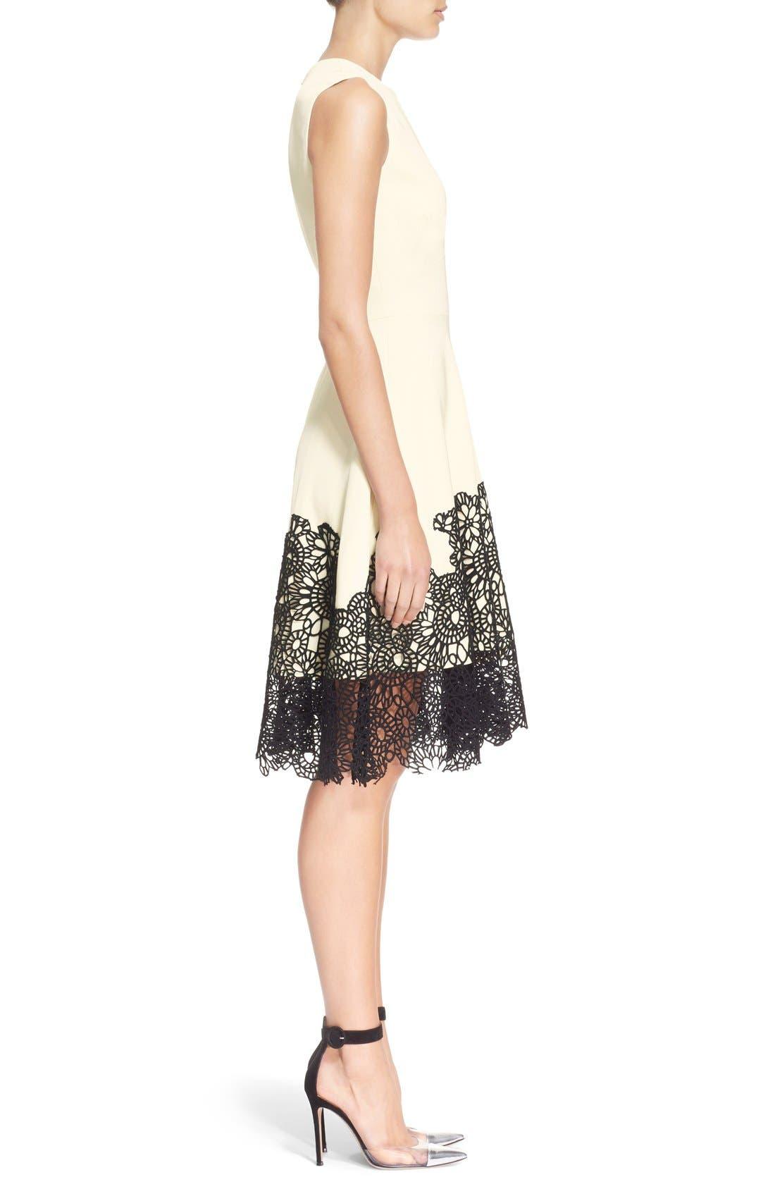 Alternate Image 5  - Lela Rose Guipure Lace Hem Dress