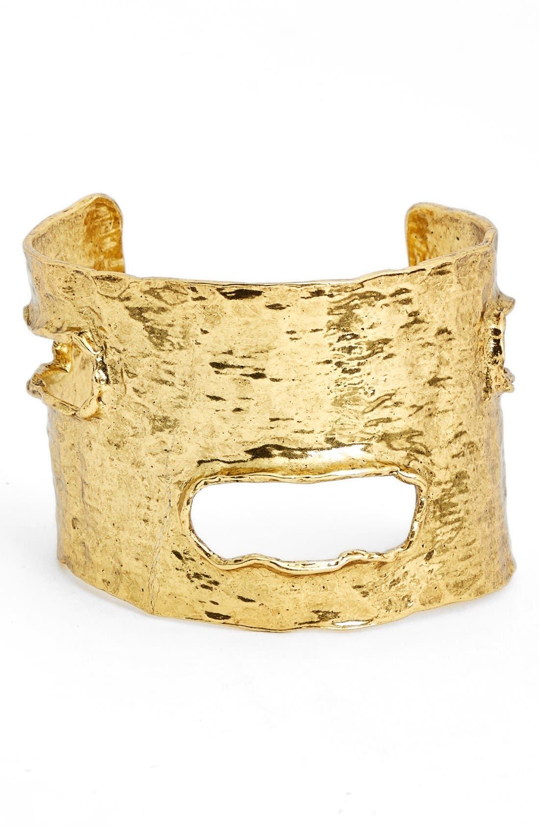 Textured Cuff,                         Main,                         color, Gold