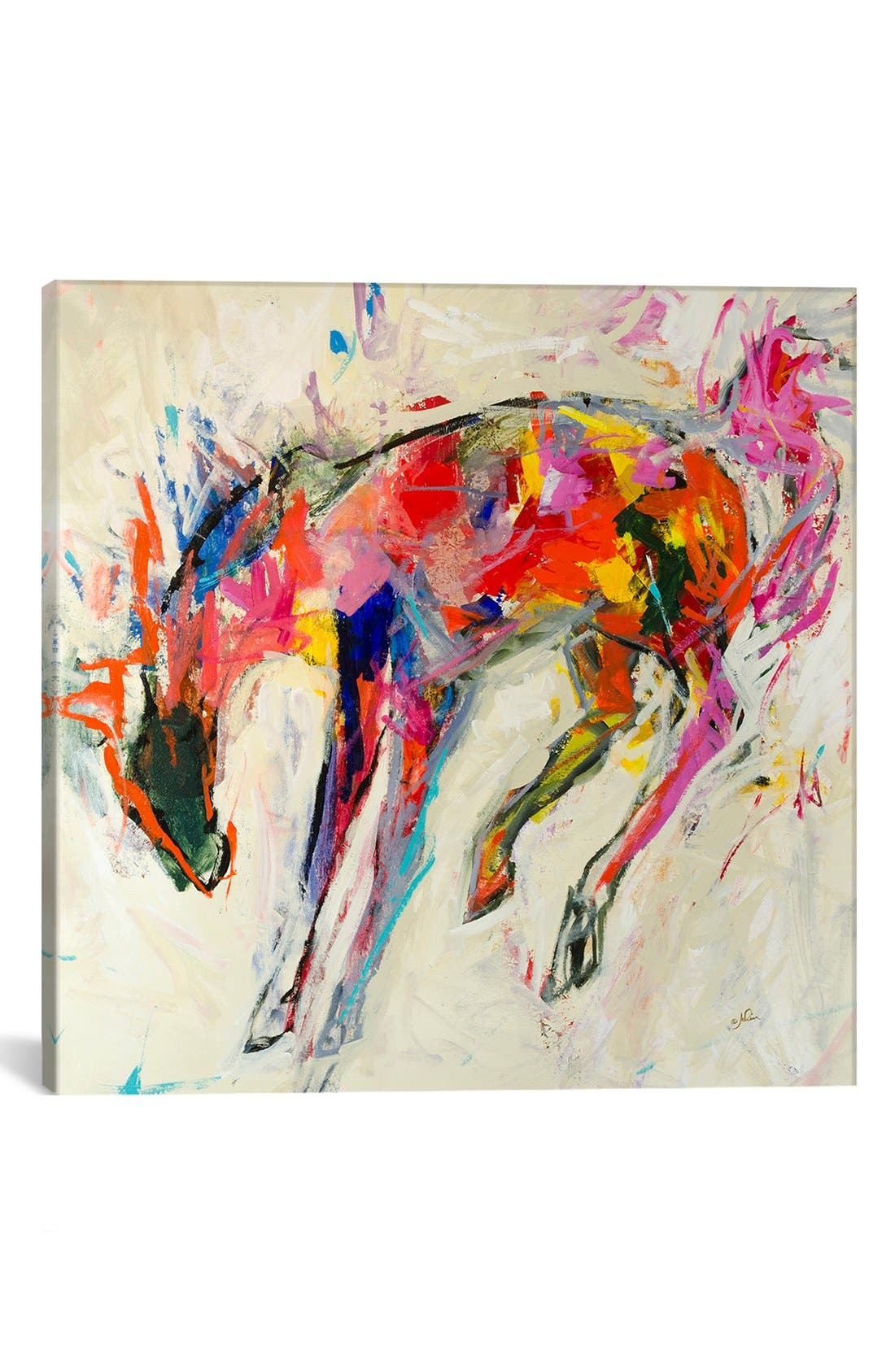 'Piñata Bronco' Giclée Print Canvas Art,                         Main,                         color, Beige
