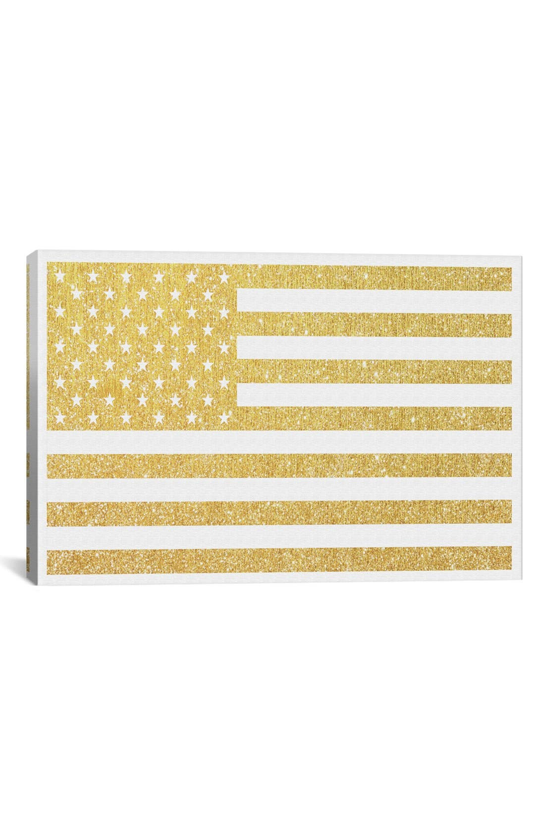 Alternate Image 1 Selected - iCanvas 'Gold Flag III' Giclée Print Canvas Art