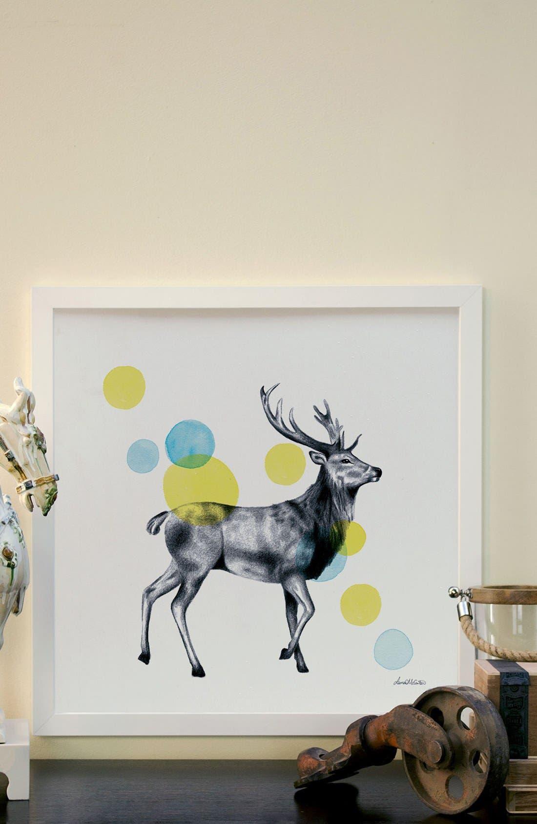 'Sketchbook - Stag' Giclée Print Framed Canvas Art,                             Alternate thumbnail 2, color,                             White