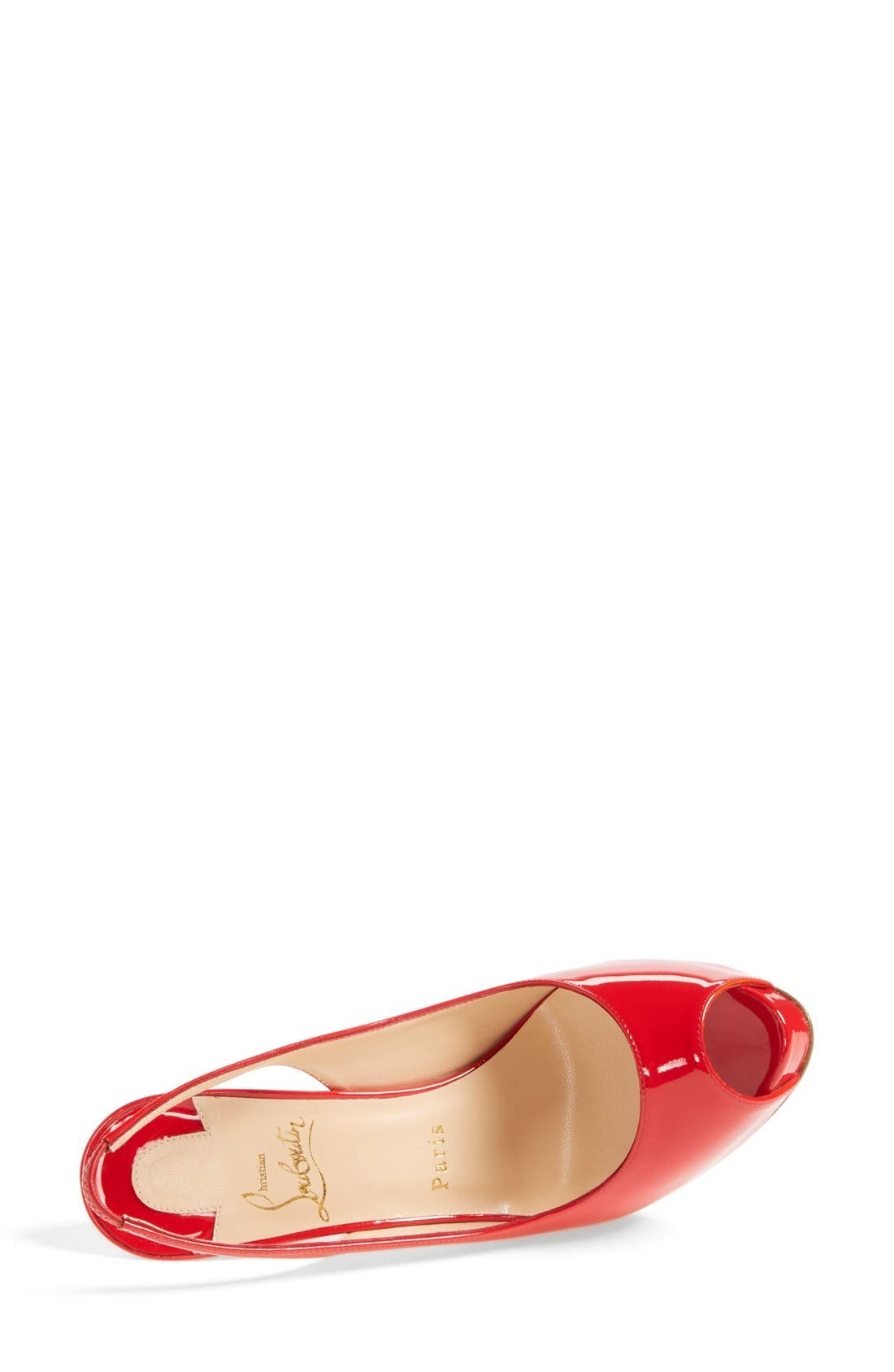 Alternate Image 3  - Christian Louboutin 'Private Number' Peep Toe Slingback Pump