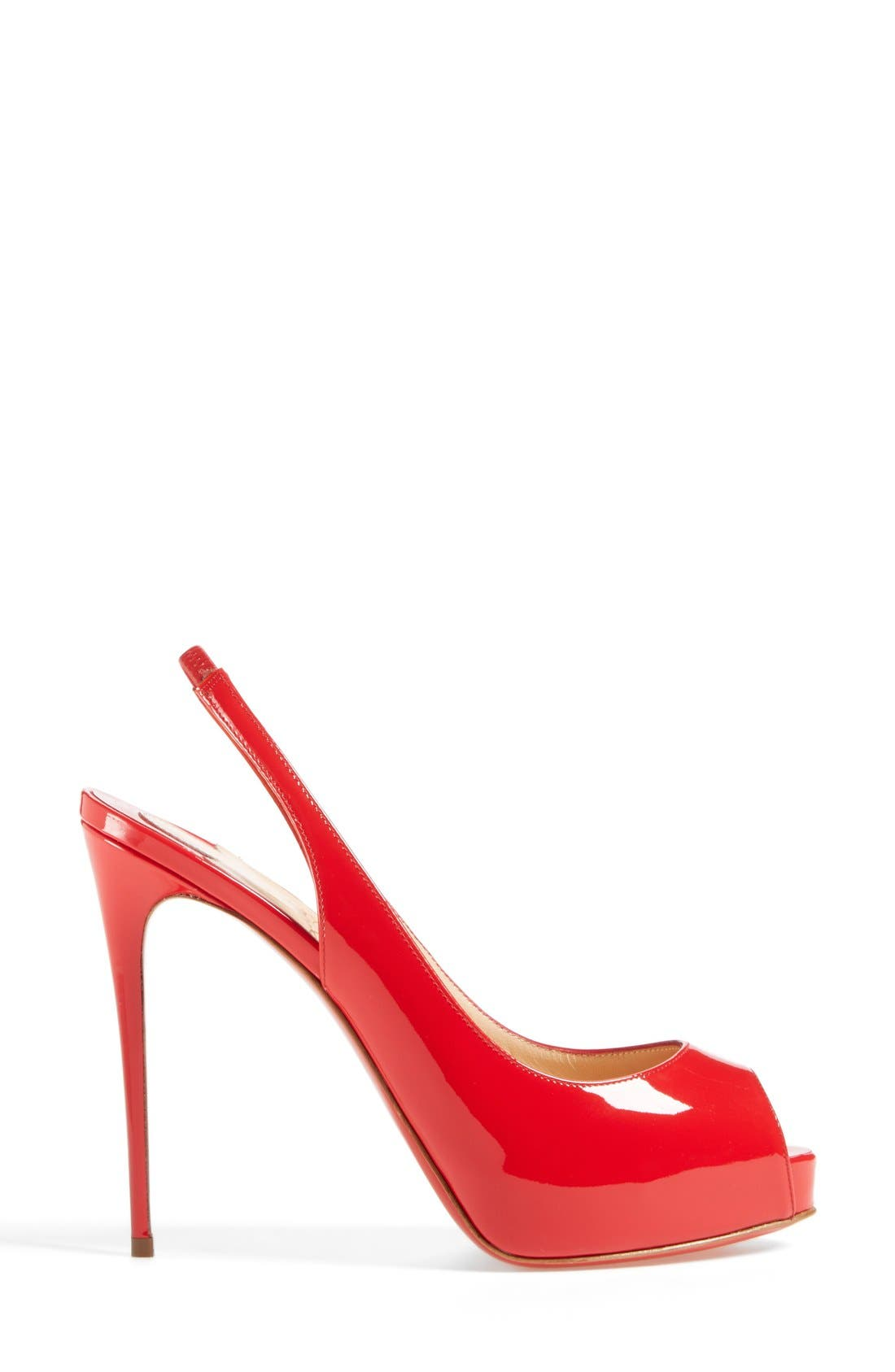 Alternate Image 4  - Christian Louboutin 'Private Number' Peep Toe Slingback Pump