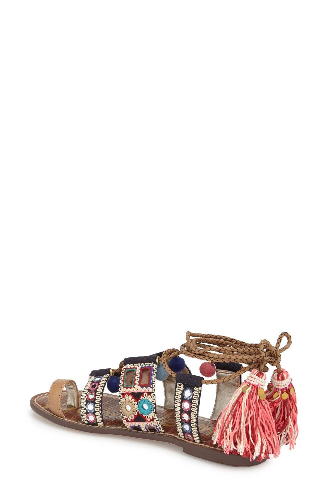 Alternate Image 2  - Sam Edelman 'Gretchen' Embellished Lace-Up Sandal (Women)