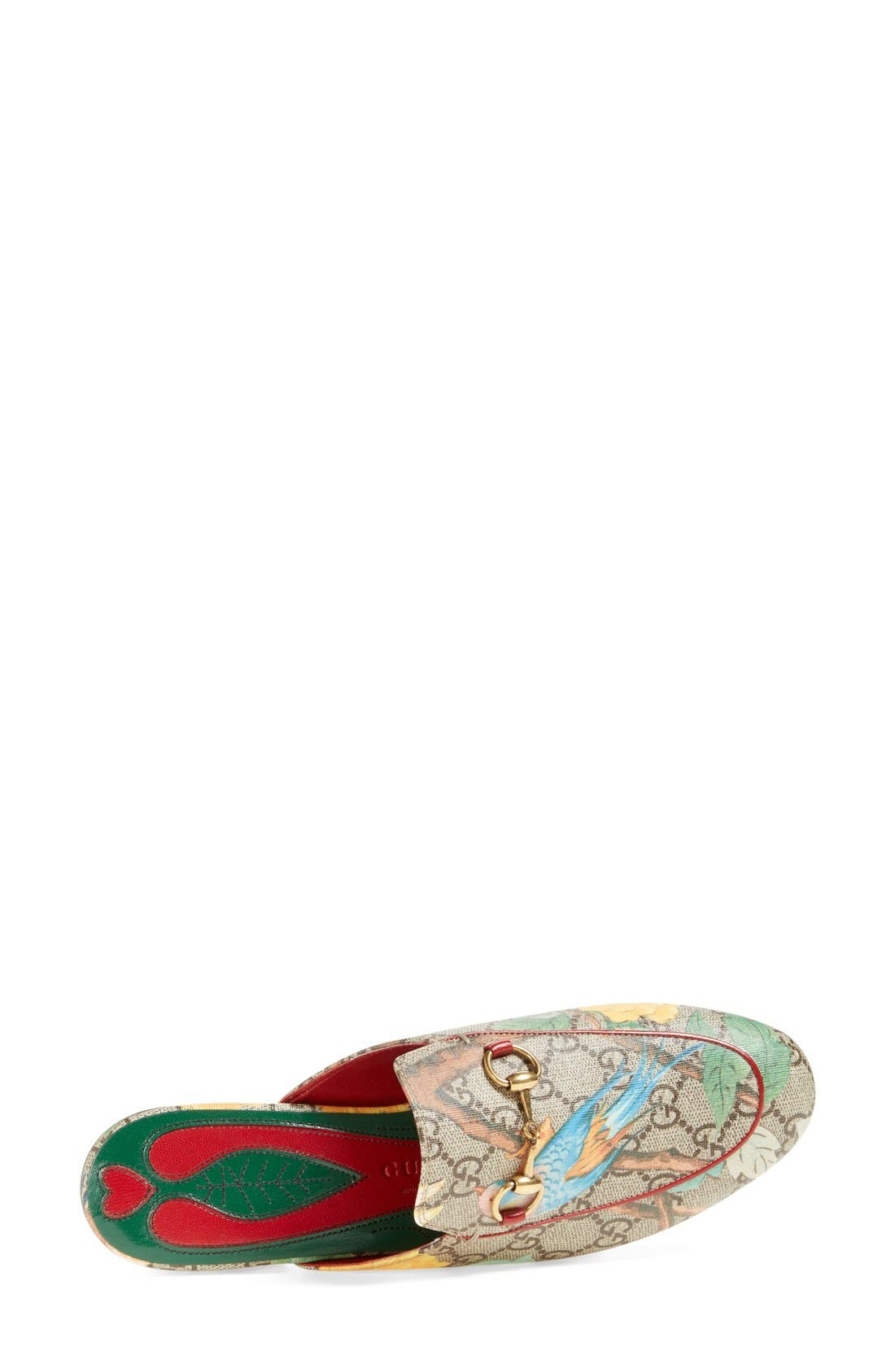 Alternate Image 3  - Gucci 'Princetown' Floral Print Mule Loafer (Women)