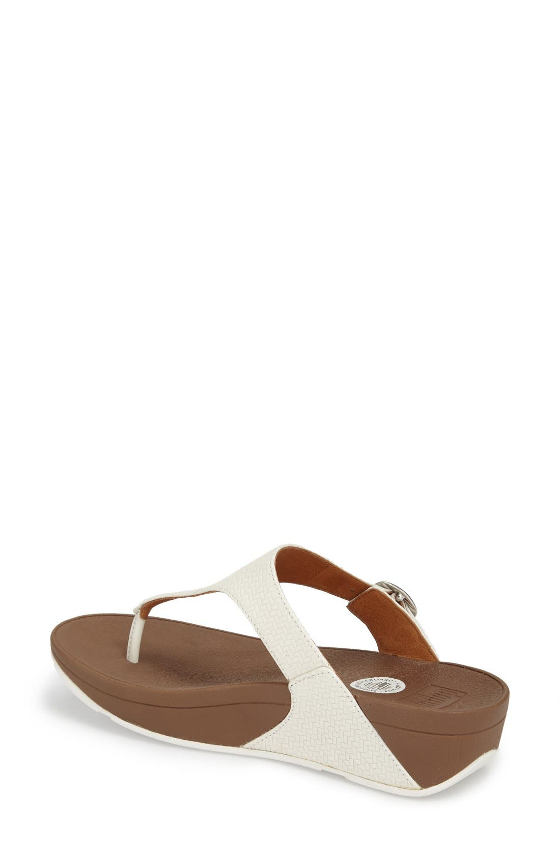 The Skinny Flip Flop,                             Alternate thumbnail 2, color,                             Urban White Leather