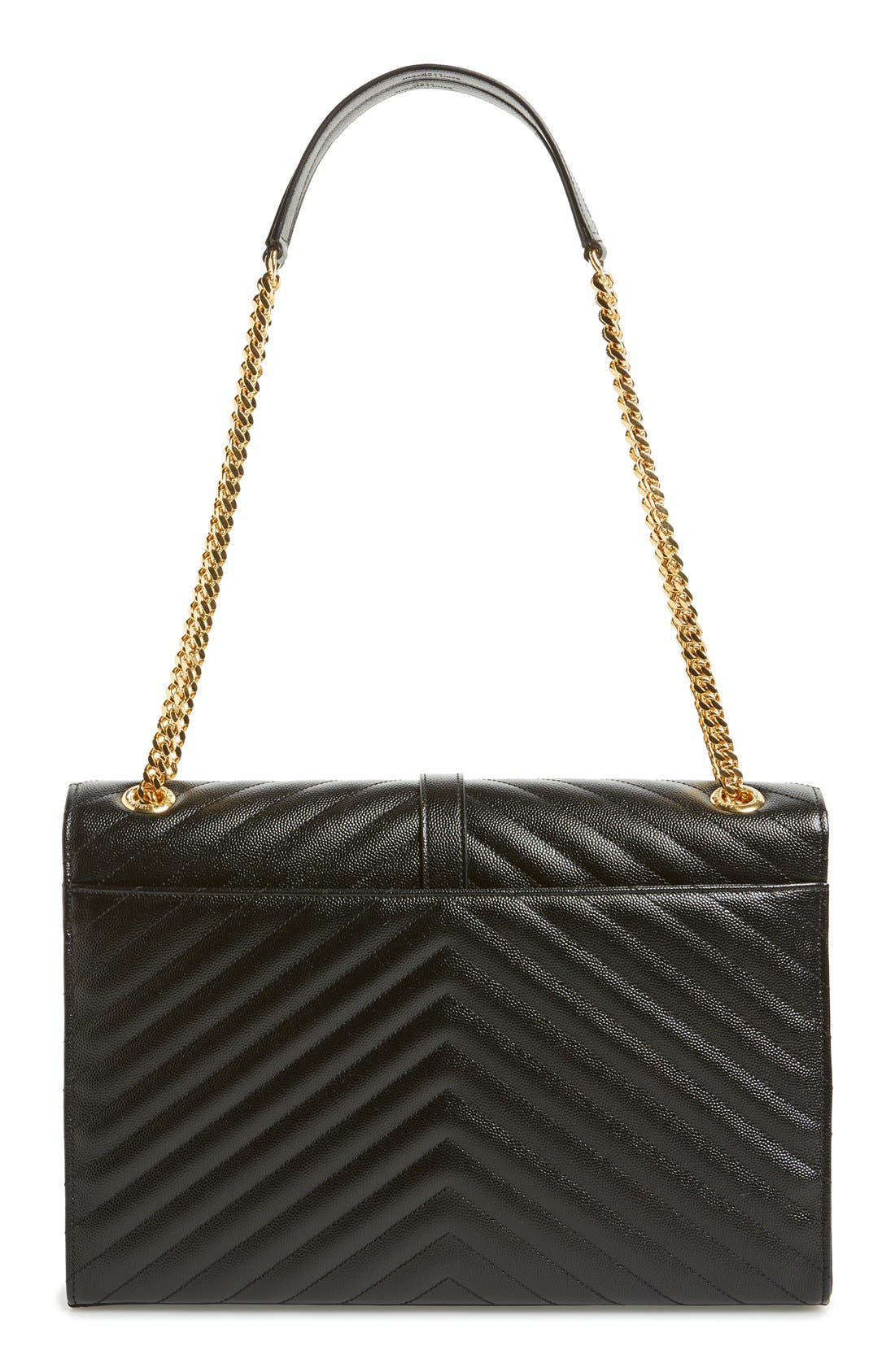 Alternate Image 3  - Saint Laurent 'Large Monogram' Grained Leather Shoulder Bag