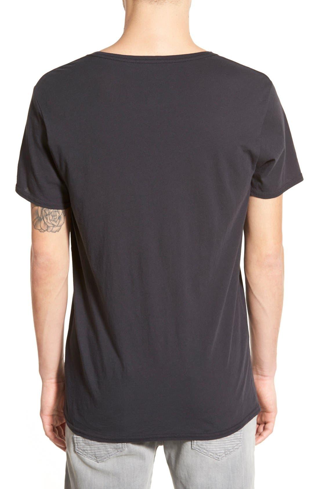 'Dirt' Crewneck T-Shirt,                             Alternate thumbnail 2, color,                             Vintage Black