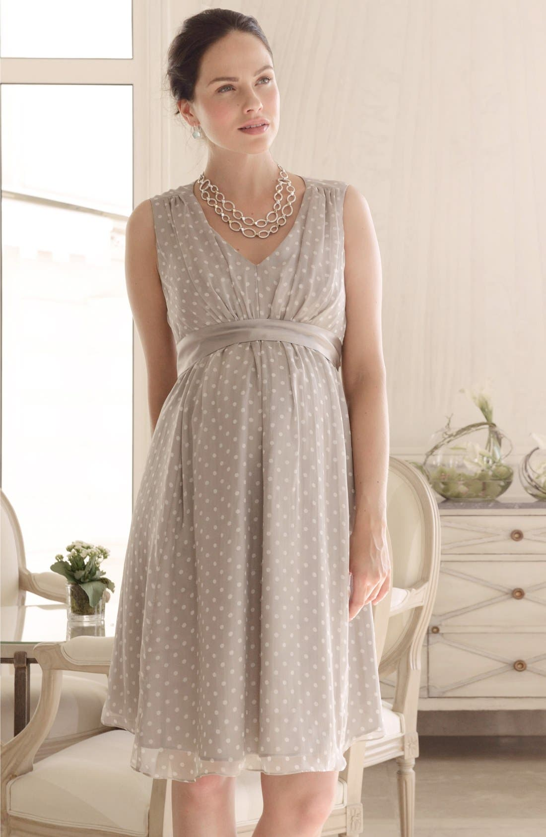 Alternate Image 4  - Seraphine Silk Chiffon Maternity Dress
