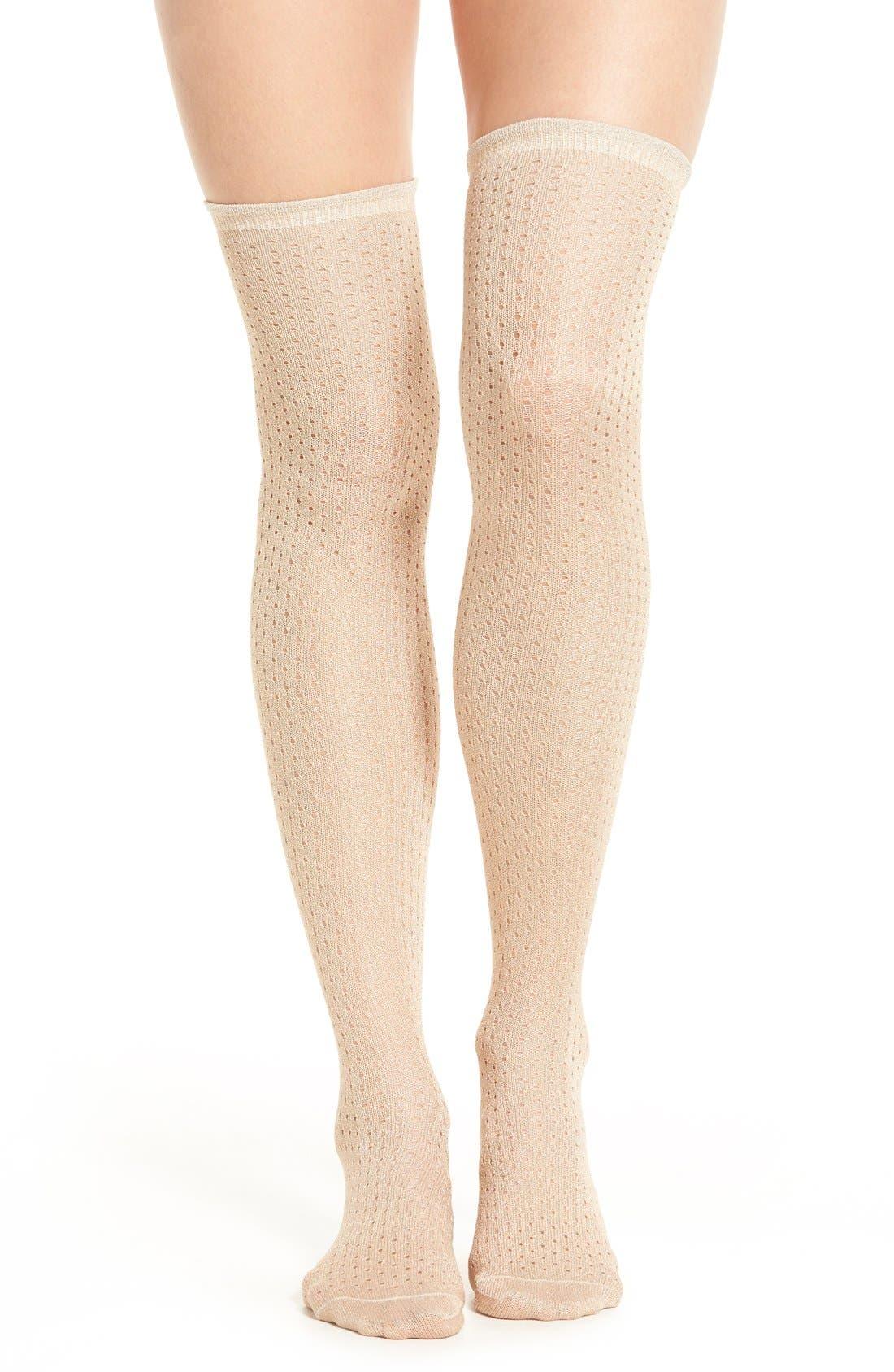 Main Image - Free People 'Crosstown' Over the Knee Socks