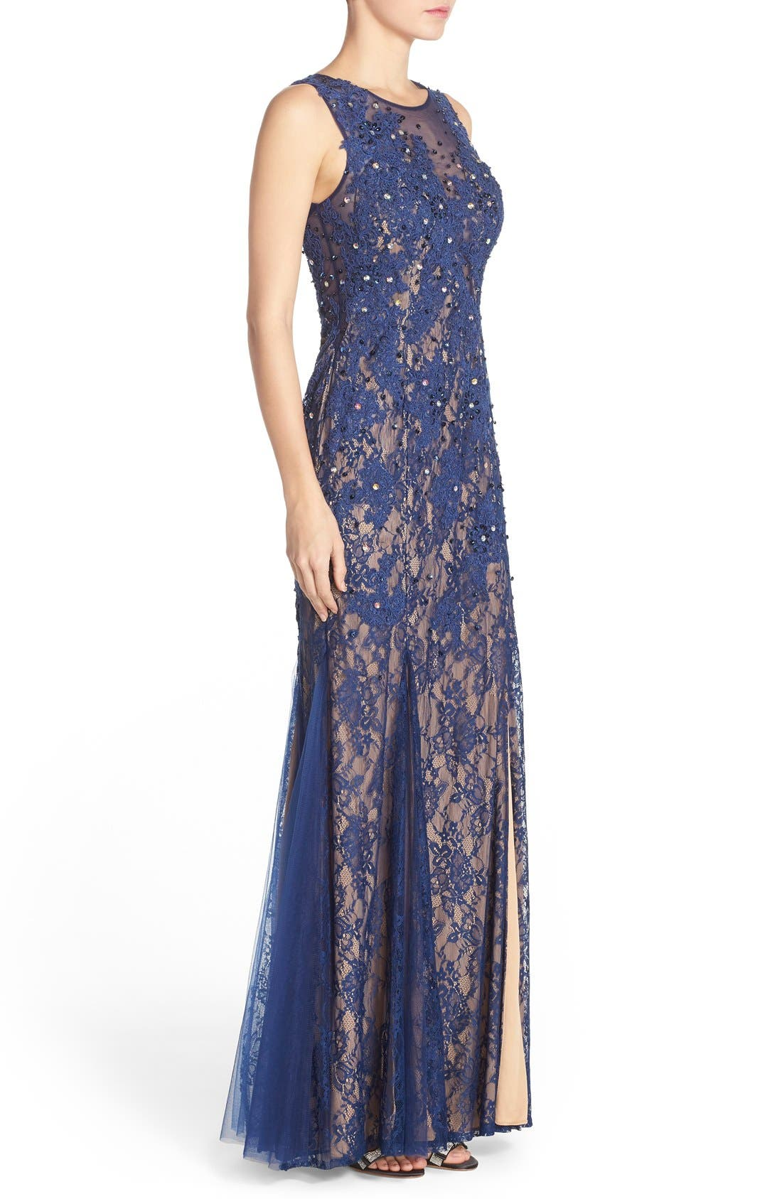 Alternate Image 3  - Sean Collection Embellished Lace Gown
