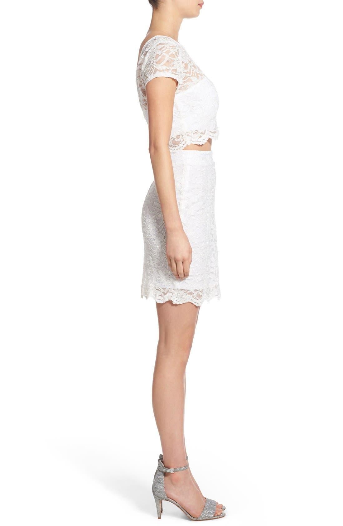 Alternate Image 3  - Speechless Glitter Lace Two-Piece Sheath Dress