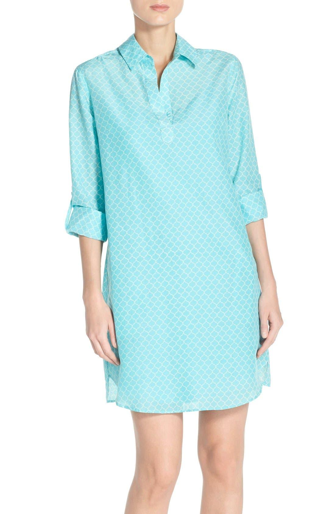 Alternate Image 1 Selected - KUT from the Kloth Print Chambray Shirtdress