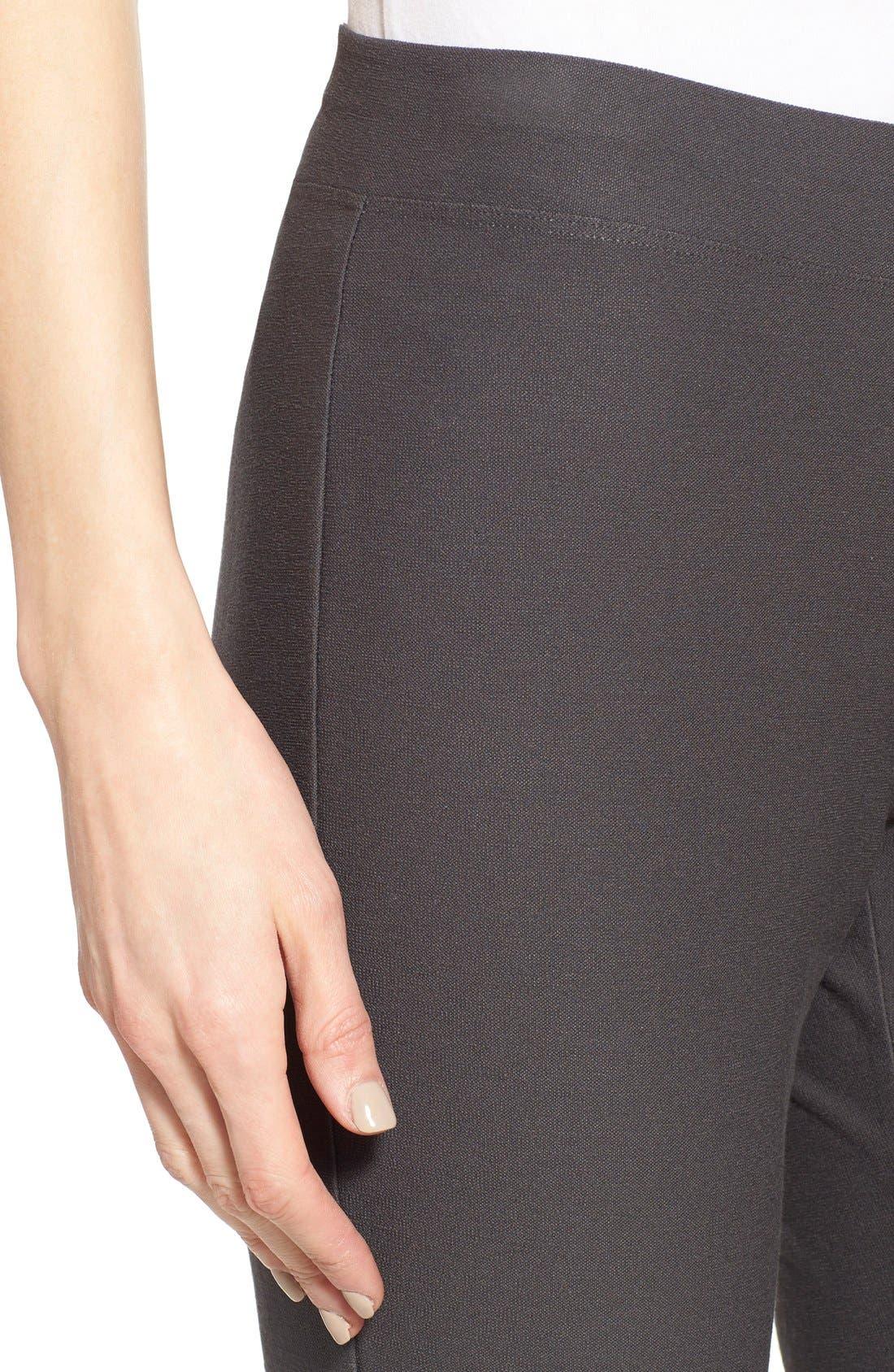Alternate Image 4  - Eileen Fisher Stretch Crepe Slim Ankle Pants (Regular & Petite)