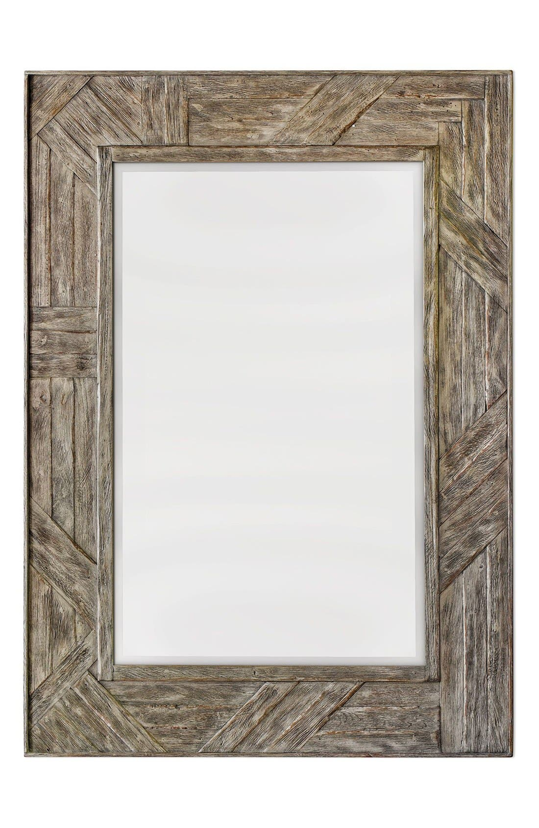 'Fortuo' Mahogany Wood Mirror,                             Main thumbnail 1, color,                             Brown