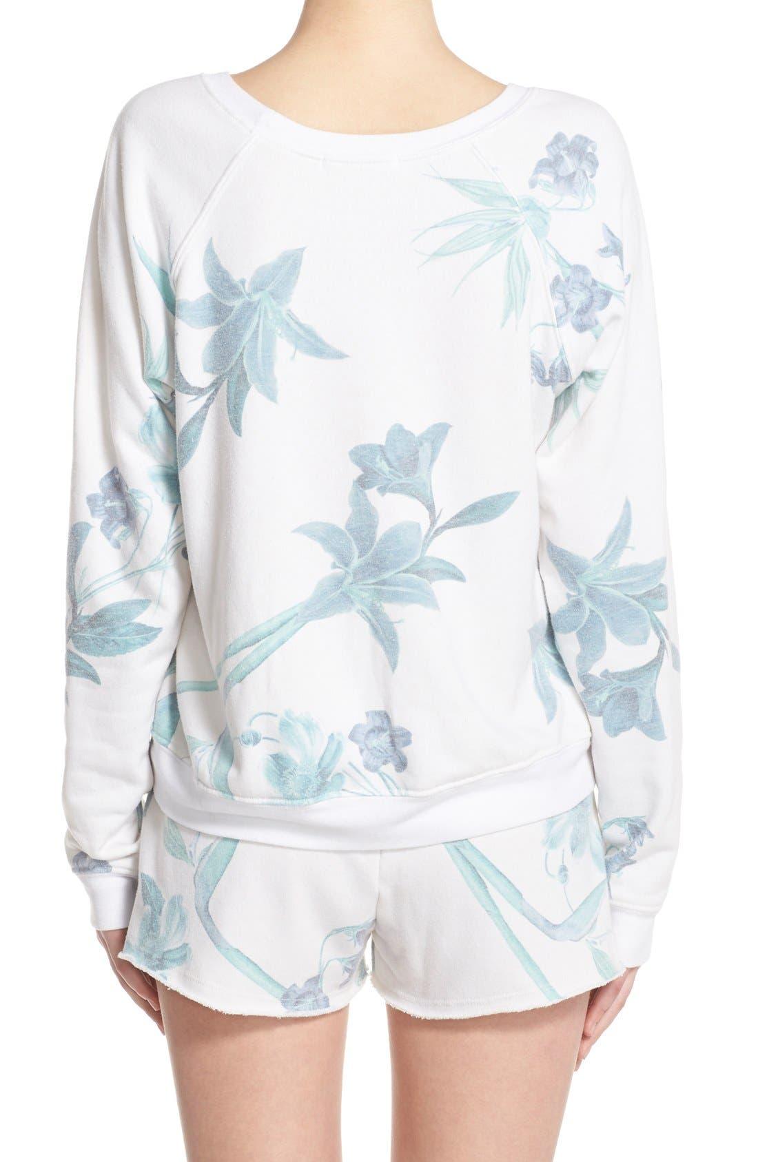 Alternate Image 2  - 35mm 'Jenna' Floral Sweatshirt