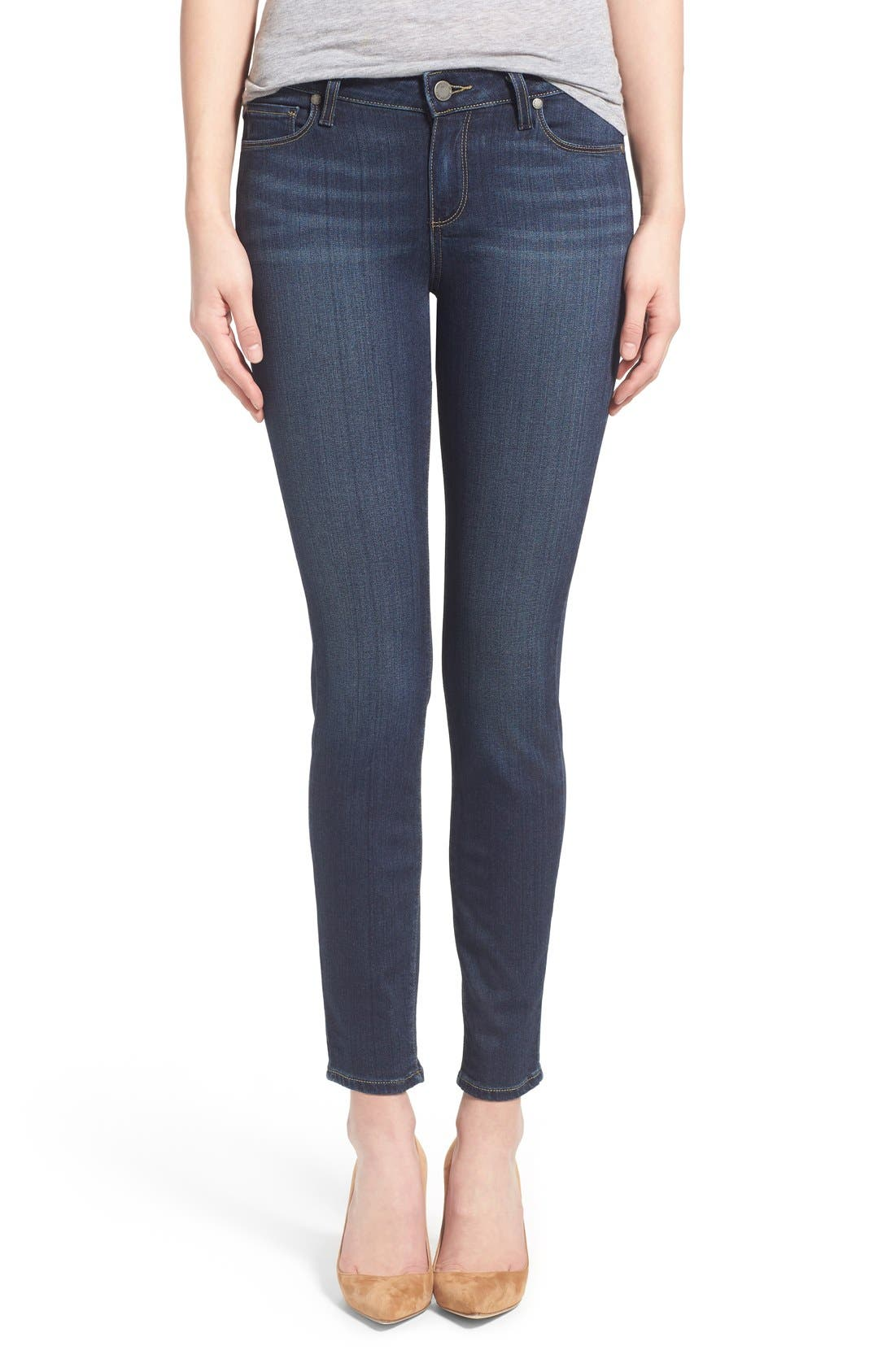 Alternate Image 1 Selected - Paige Denim 'Transcend - Verdugo' Ankle Ultra Skinny Jeans (Nottingham) (Petite)