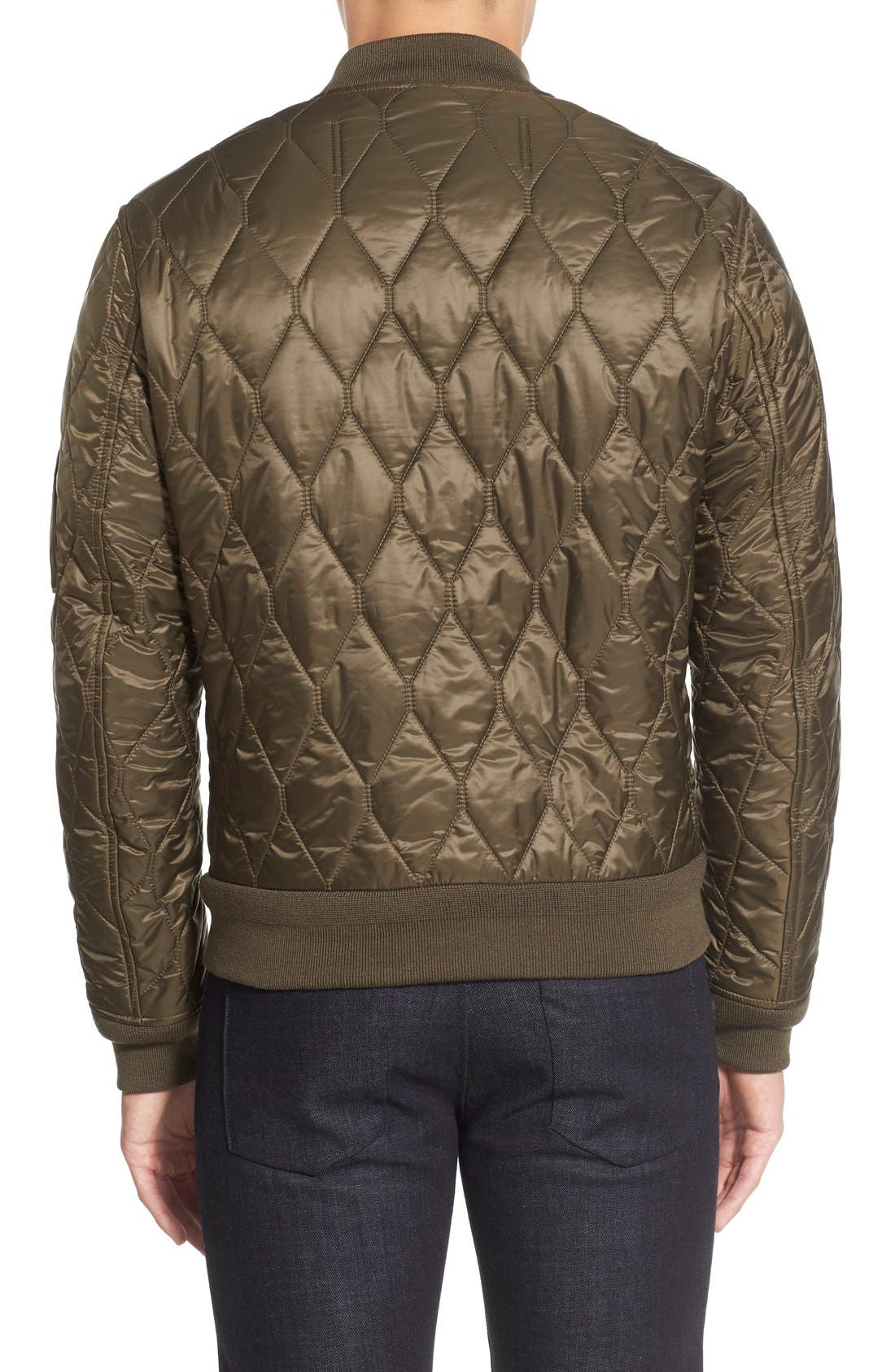 The Britain 'Grandy Aboyg' Quilted Bomber,                             Alternate thumbnail 2, color,                             Oregano