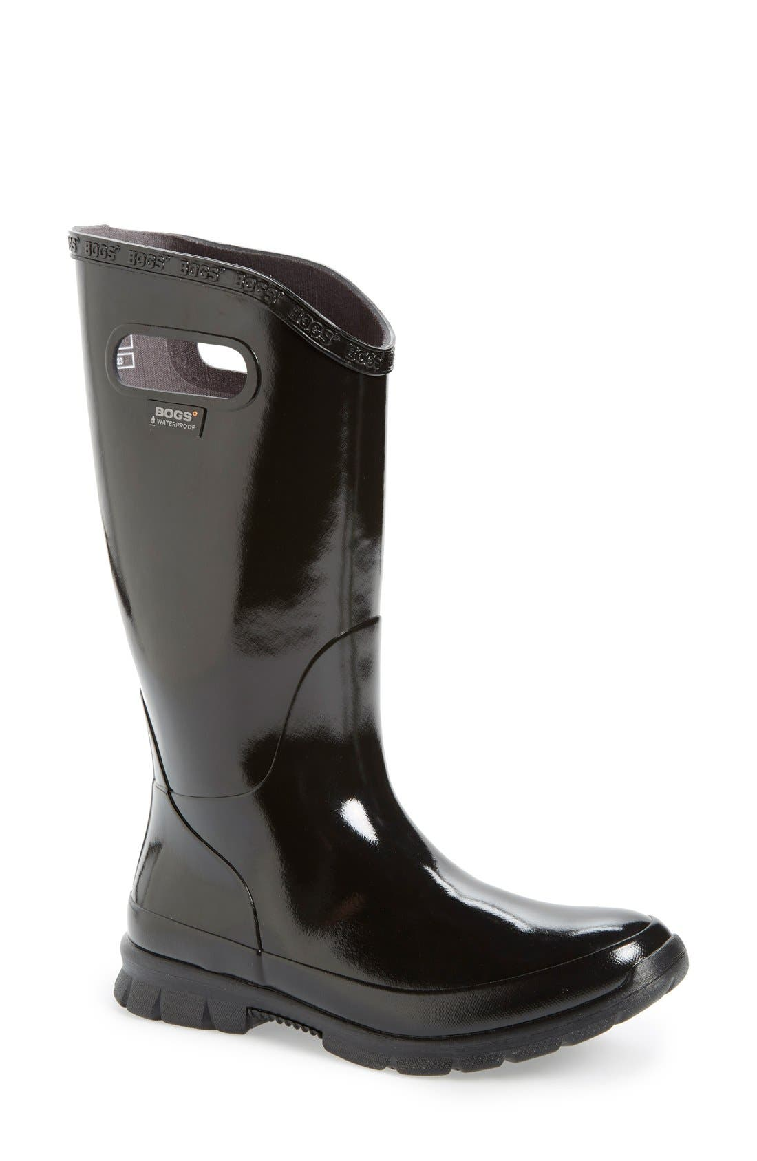 Main Image - Bogs 'Berkley' Waterproof Rain Boot (Women). Color: Black