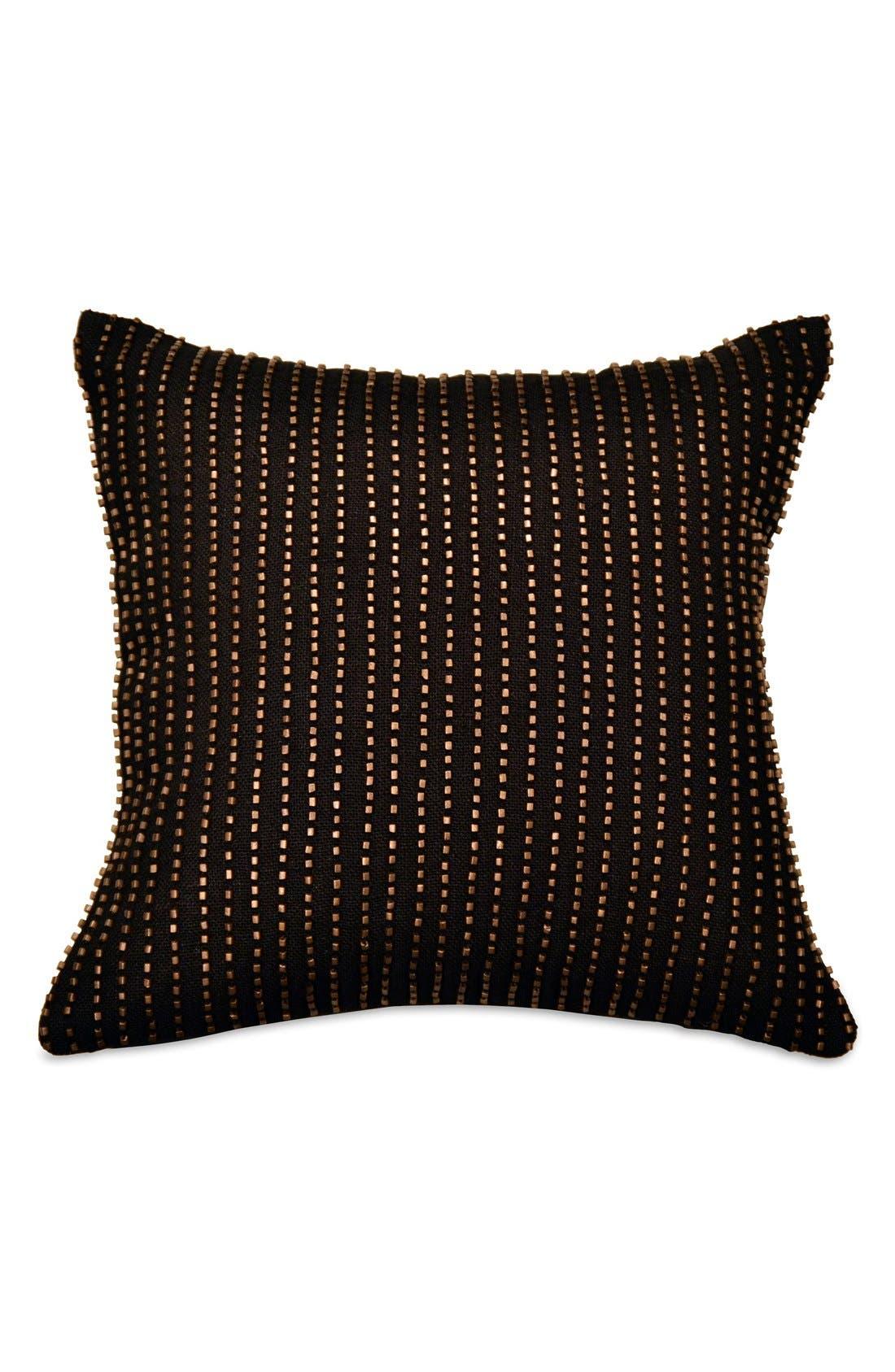 Main Image - Donna Karan Collection Metallic Beaded Pillow