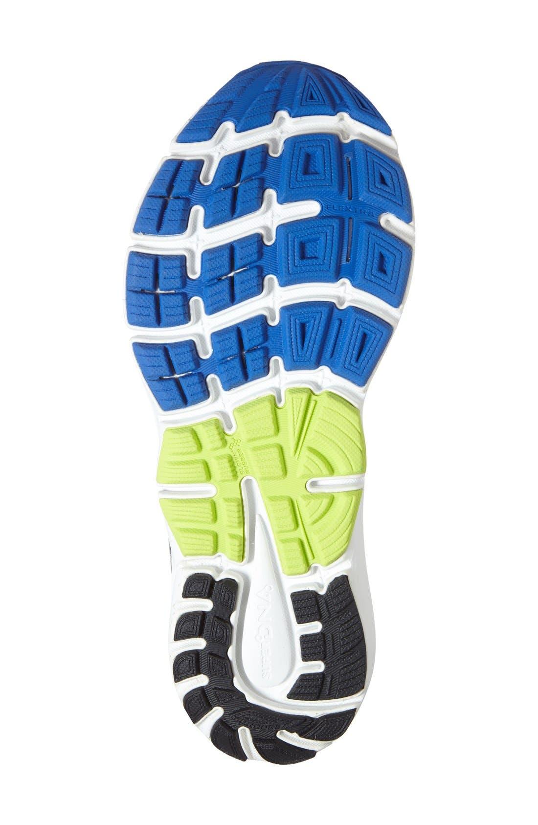 'Transcend 3' Running Shoe,                             Alternate thumbnail 4, color,                             Electric Blue/ Lime/ Black