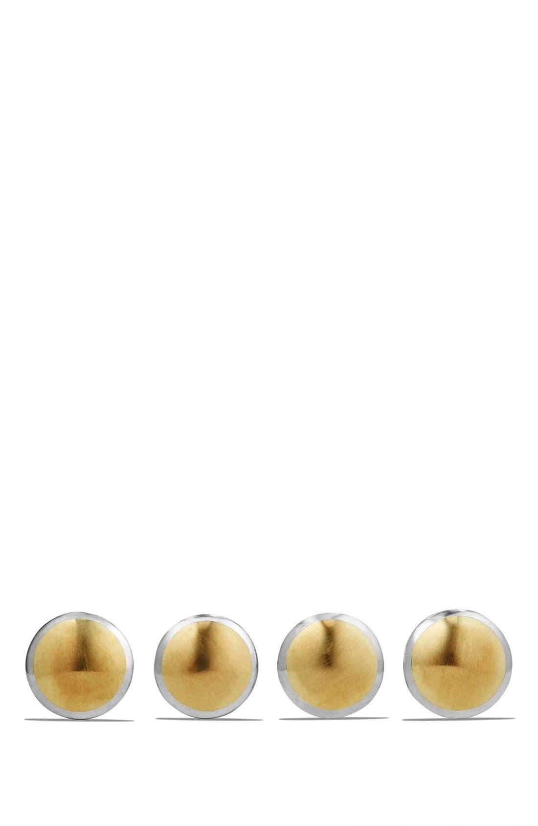 David Yurman Streamline Set of 4 Shirt Studs with 18K Gold
