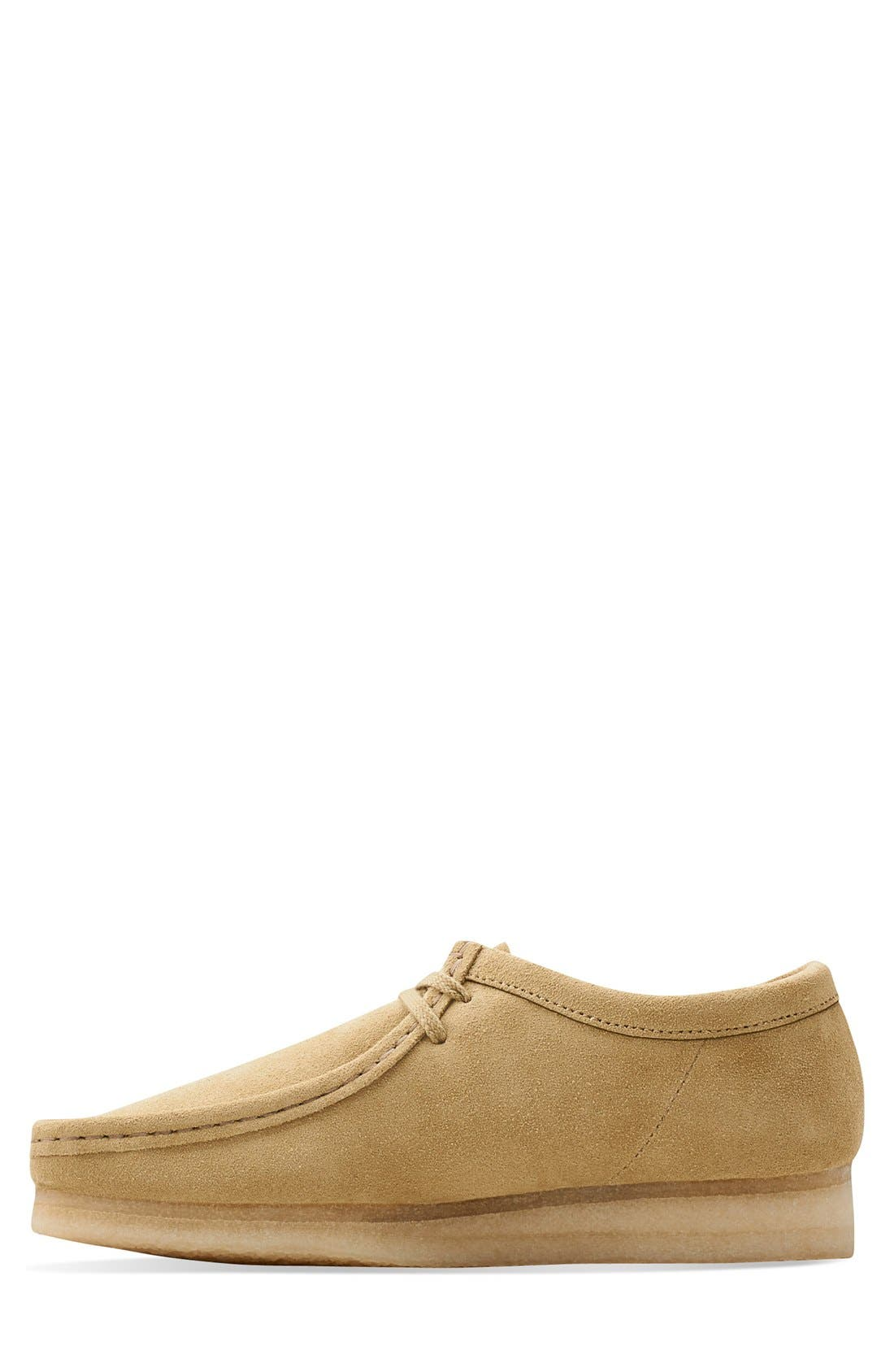 'Wallabee' Moc Toe Derby (Online Only),                             Alternate thumbnail 5, color,                             Maple Suede