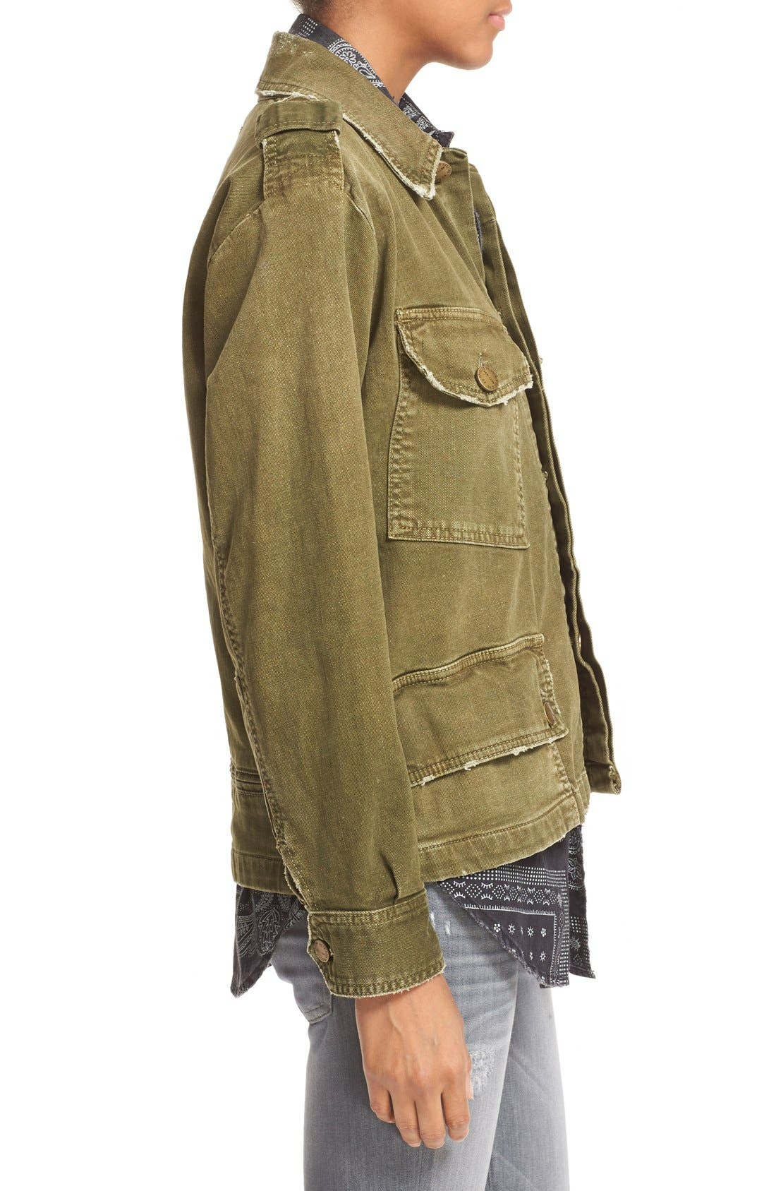 Alternate Image 4  - Current/Elliott 'Slanted Pocket' Army Jacket