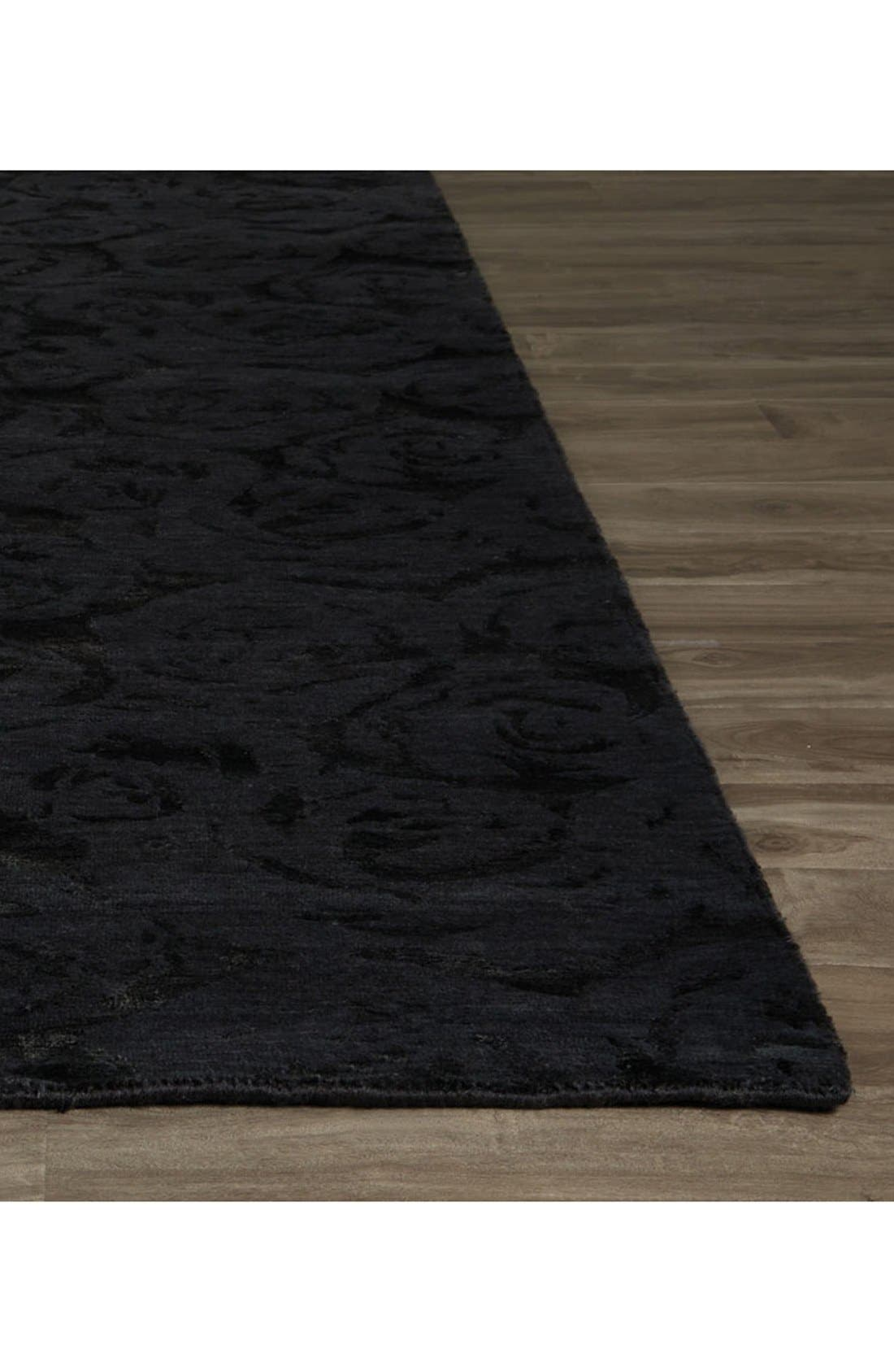 'noho' premium wool blend rug,                             Alternate thumbnail 2, color,                             Black