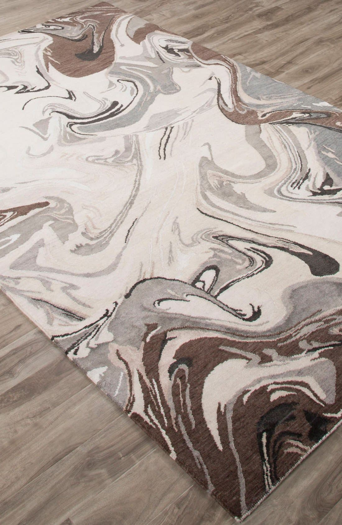 'noho' abstract wool blend rug,                             Alternate thumbnail 3, color,                             Ivory/ Grey