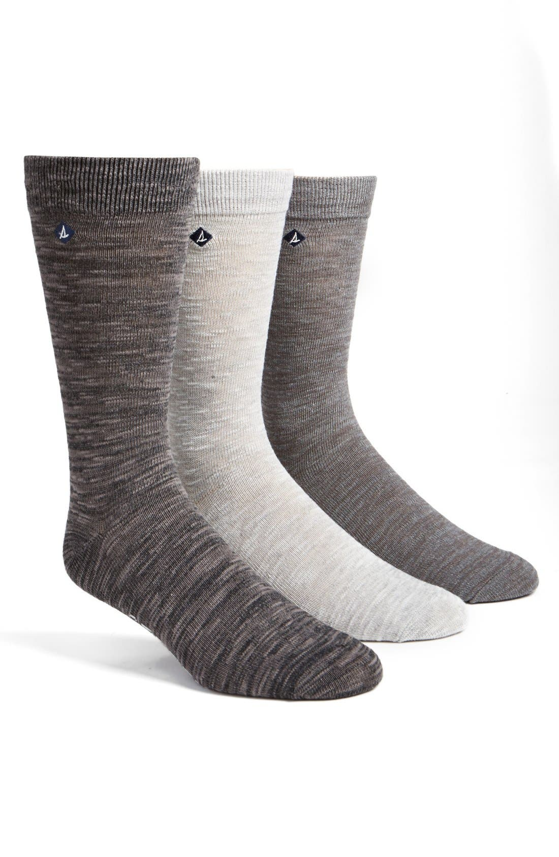 Alternate Image 1 Selected - Sperry Cotton Blend Socks (3-Pack)