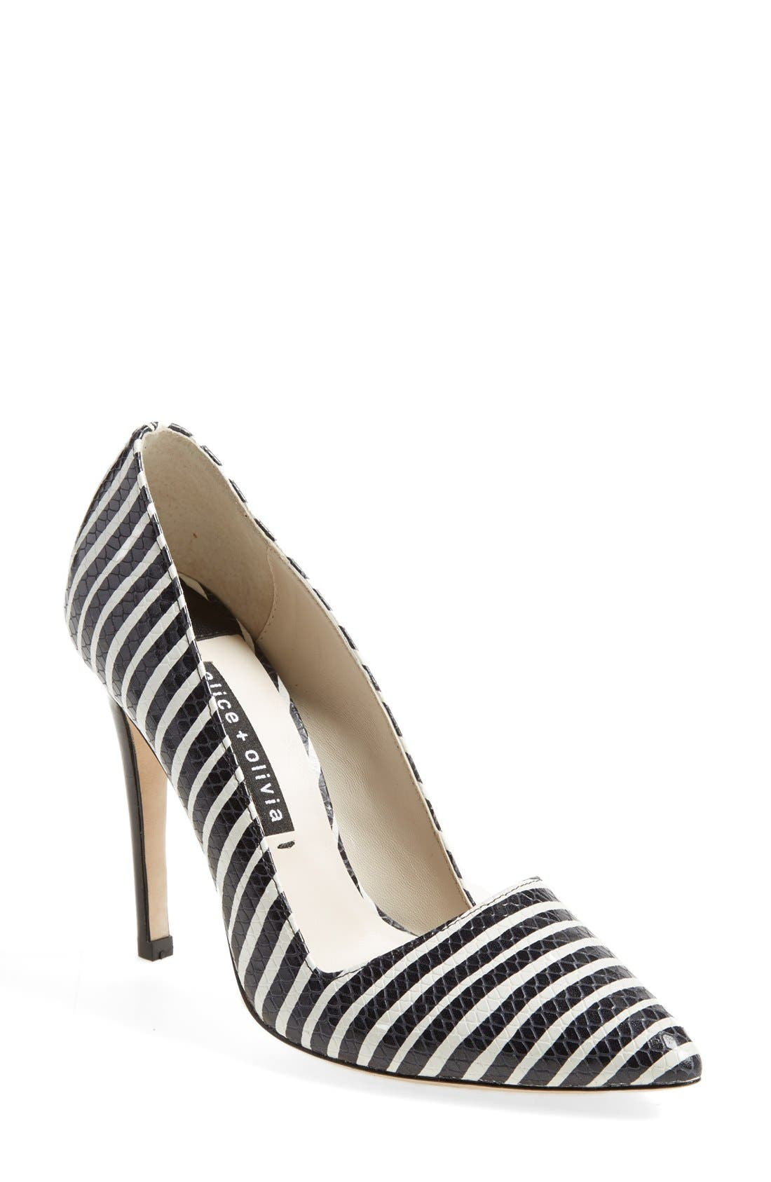 Main Image - Alice + Olivia 'Dina' Pointy Toe Pump (Women)