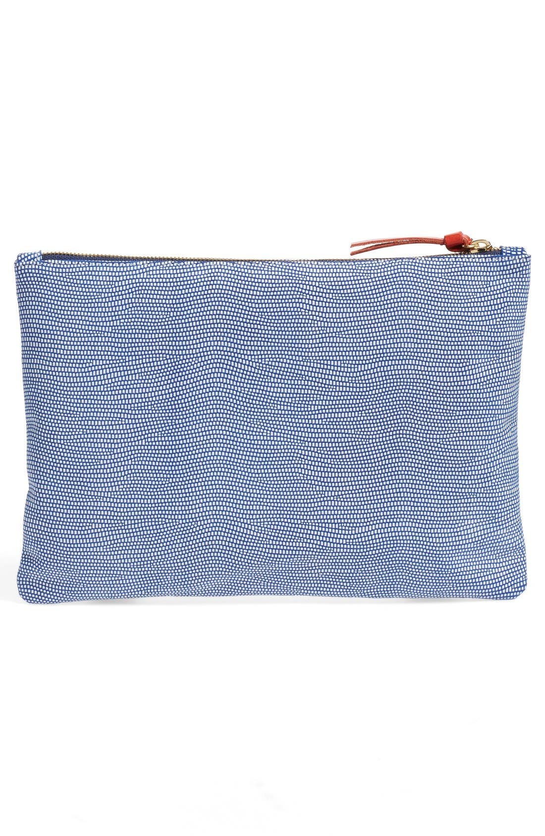 Alternate Image 3  - Clare V. Lizard Embossed Leather Zip Clutch